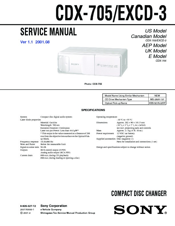 sony 200 cd changer manual