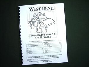 west bend automatic bread and dough maker 41073 manual
